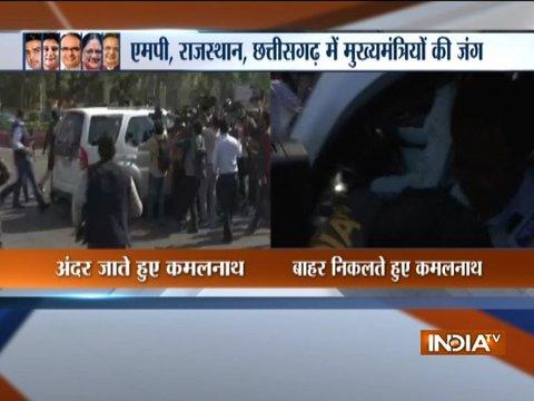 Kamal Nath meets Shivraj Singh in Bhopal; supporters of Pilot, Gehlot clash in Jaipur