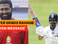 Wasim Jaffer sends Ajinkya Rahane 'hidden message' ahead of Boxing Day Test