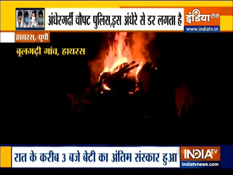 Hathras gangrape case: Outrage over midnight cremation