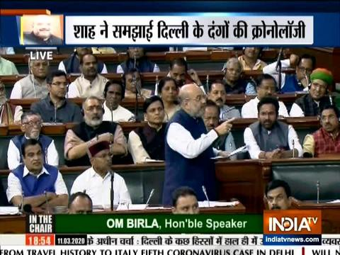 Delhi riots were pre-planned,says Home Minister Amit Shah in parliament