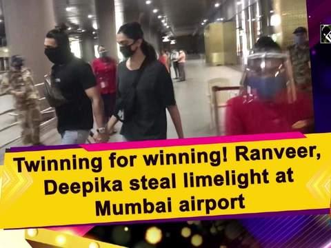 Twinning for winning! Ranveer, Deepika steal limelight at Mumbai airport