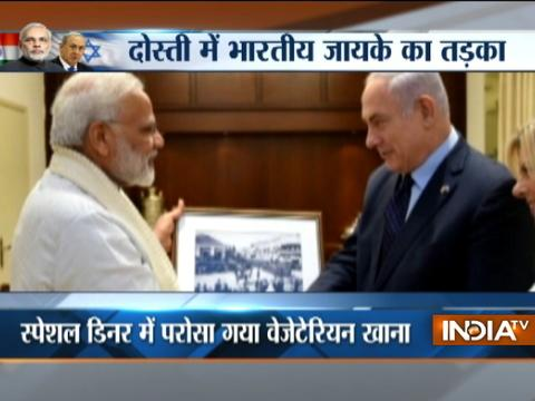 Israeli PM Netanyahu hosts PM Modi for a private dinner at his residence