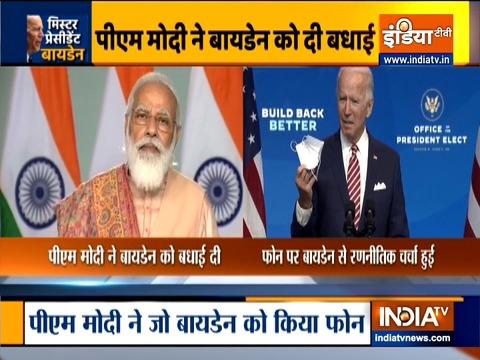 PM Modi congratulates Joe Biden and Kamala Harris on US election victory