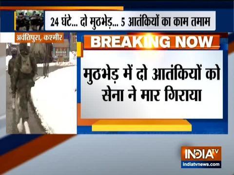जम्मू और कश्मीर के अवंतिपुरा में हुई मुठभेड़ में 2 आतंकवादी मारे गए