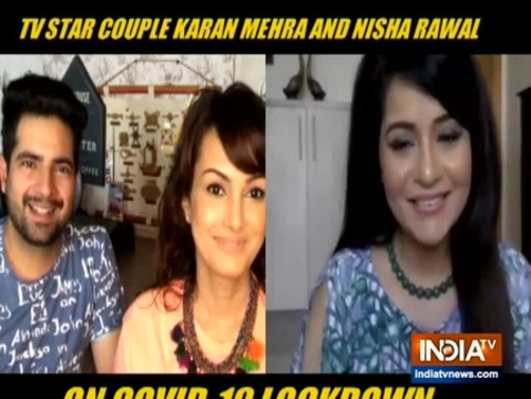 TV couple Karan Mehra, Nisha Rawal open up on their lockdown days