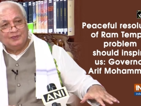 Peaceful resolution of Ram Temple problem should inspire us: Governor Arif Mohammed