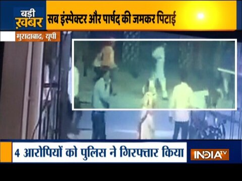 Sub-Inspector and  Councilor beaten up by locals for shutting down DJ during Holi celebration in Moradabad