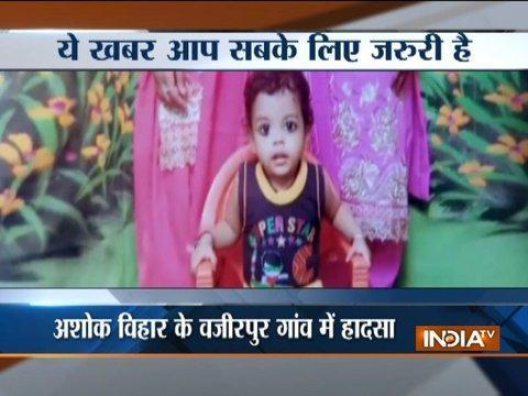 Toddler drowns in bucket of water in Delhi