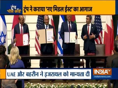 Israel, UAE and Bahrain sign Abraham Accord