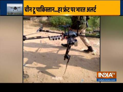 Pakistani spy drone carrying weapons shot down by BSF at J-K's Kathua