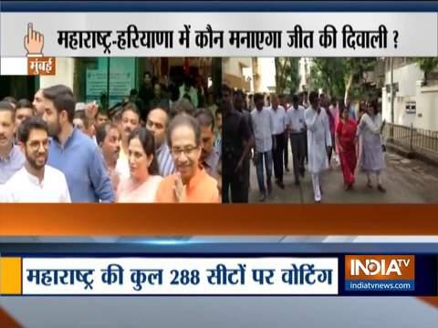 Maharashtra Election 2019: Uddhav Thackeray, Raj Thackeray cast vote in Mumbai