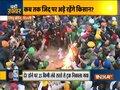 Farmers protesting at Singhu Border burn copies of the Farm Laws to celebrate Lohri