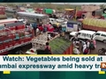 Watch: Vegetables being sold at Mumbai expressway amid heavy traffic