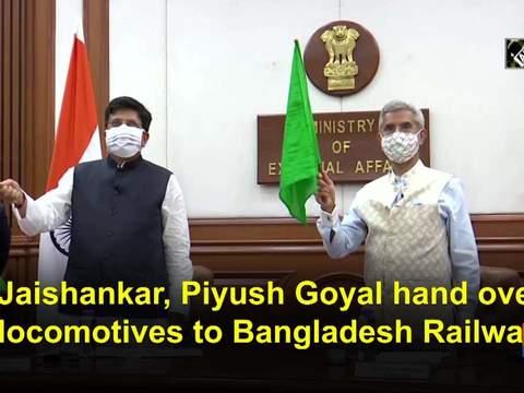 S Jaishankar, Piyush Goyal hand over 10 locomotives to Bangladesh Railways