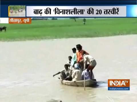 बाढ़ की 'विनाशलीला' की 20 तस्वीरें