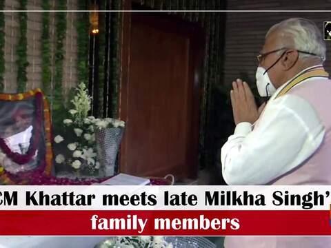 CM Khattar meets late Milkha Singh's family members