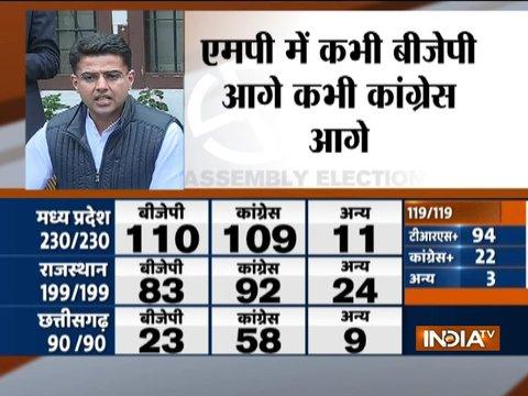 विधानसभा चुनाव परिणाम से ज़ाहिर होता है की जनता ने बीजेपी को नकार दिया है: सचिन पायलट