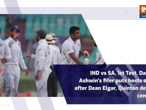 IND vs SA, 1st Test, Day 3: Ashwin's fifer puts hosts on top after Elgar, De Kock centuries