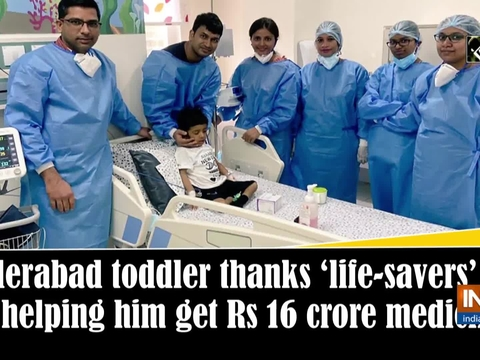 Hyderabad toddler thanks 'life-savers' for helping him get Rs 16 crore medicine