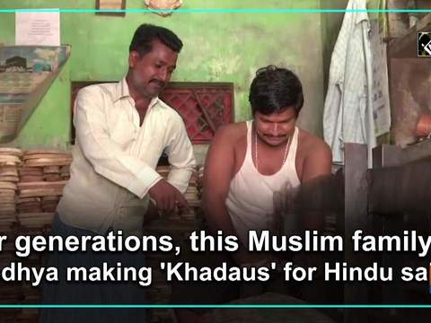 For generations, this Muslim family in Ayodhya making 'Khadaus' for Hindu saints