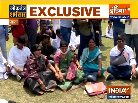 Bihar: Opposition MLAs hold parallel Assembly session in lawns demanding removal of CM