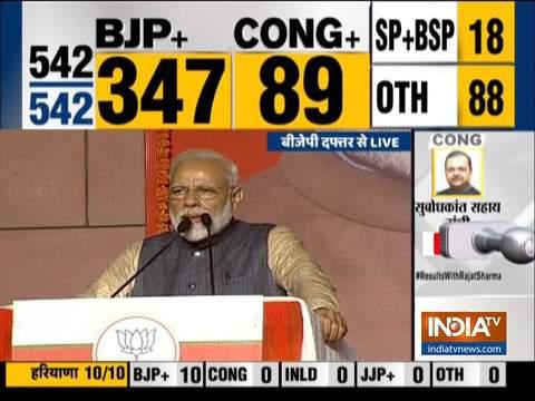 पीएम मोदी ने लोकसभा चुनाव में बीजेपी को भारी मतों से जीताने के लिए जनता को धन्यवाद दिया