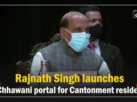 Rajnath Singh launches e-Chhawani portal for Cantonment residents