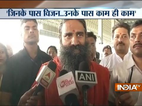 Ramdev hits back at Rahul Gandhi, says visionless and workless people has no work in World