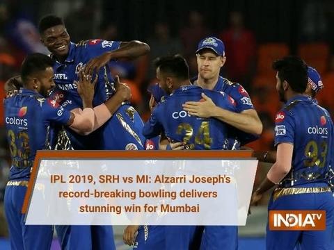 IPL 2019, SRH vs MI: Alzarri Joseph's record-breaking bowling delivers stunning win for Mumbai