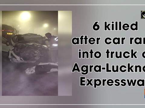 6 killed after car rams into truck on Agra-Lucknow Expressway