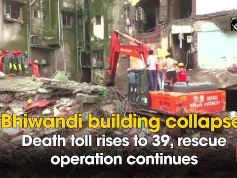 Bhiwandi building collapse: Death toll rises to 39, rescue operation continues