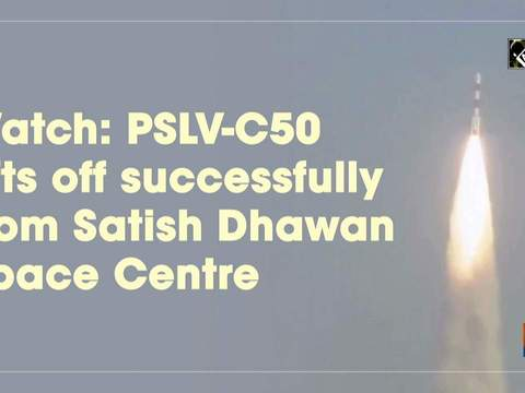 Watch: PSLV-C50 lifts off successfully from Satish Dhawan Space Centre