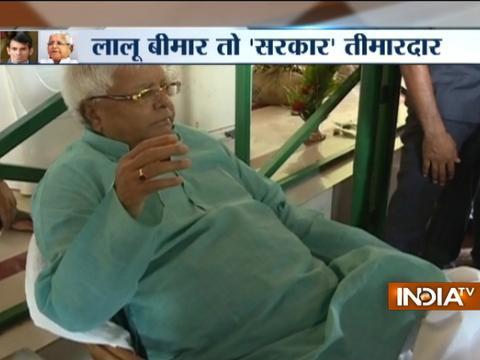 Minister Tej Pratap Yadav deputes 3 govt doctors, 2 nurses for ill father Lalu Prasad