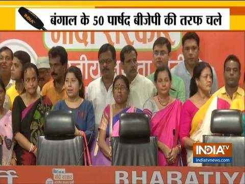 Two TMC, one CPM MLA along with more than 50 Councillors from West Bengal join BJP