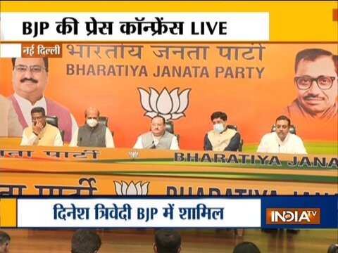 Dinesh Trivedi joins BJP in the presence of the party's national president JP Nadda