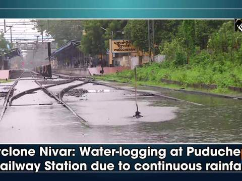 Cyclone Nivar: Water-logging at Puducherry Railway Station due to continuous rainfall