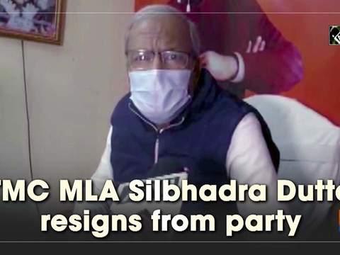 TMC MLA Silbhadra Dutta resigns from party