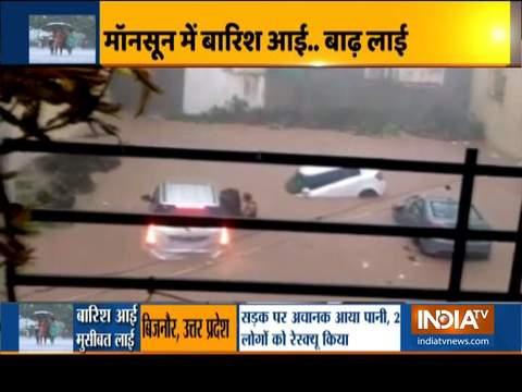 भारी बारिश से देश के कुछ हिस्सों में दिखी बाढ़ जैसी स्थिति