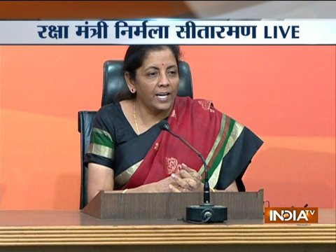Defence Minister Nirmala Sitharaman addresses press conference on the PNB fraud case