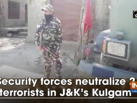 Security forces neutralize 2 terrorists in JandK's Kulgam