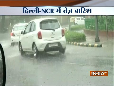 Waterlogging and traffic jam in part of Delhi-NCR following heavy rain