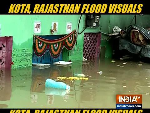 मॉनसून 2019: राजस्थान के कोटा में भारी बारिश से जनजीवन अस्त-व्यस्त