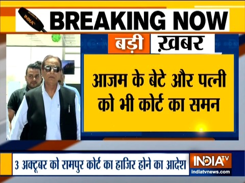 Rampur Court issues summons to SP leader Azam Khan and his family