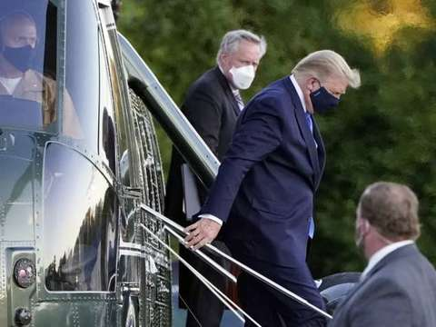 After testing COVID positive, Donald Trump moved to military hospital for treatment
