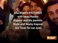Alia Bhatt's PICTURES with beau Ranbir Kapoor and his parents Rishi and Neetu Kapoor are Treat for our eyes