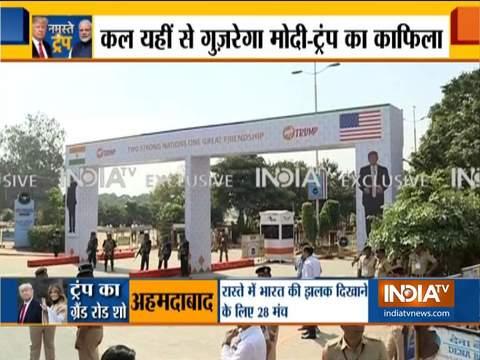 Exclusive: अहमदाबाद में पीएम मोदी और राष्ट्रपति ट्रंप के रोड शो के रूट से ग्राउंट रिपोर्ट