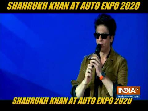 Shah Rukh Khan attends Auto Expo 2020 in Delhi