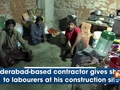 Hyderabad-based contractor gives shelter to labourers at his construction site