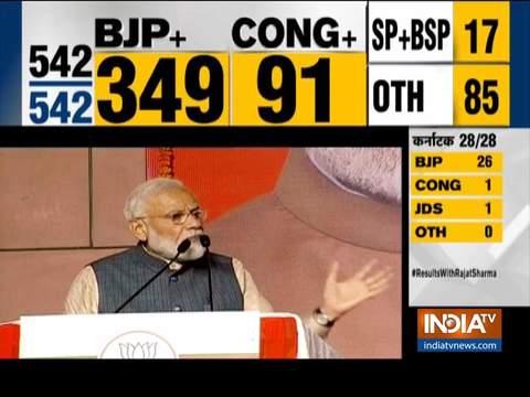 नरेंद्र मोदी ने रचा इतिहास, इंदिरा गांधी के बाद दोबारा पूर्ण बहुमत से सरकार बनाने वाले नेता बने