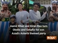 Aamir Khan and Kiran Rao turn Obelix and Getafix for son Azad's Asterix themed party